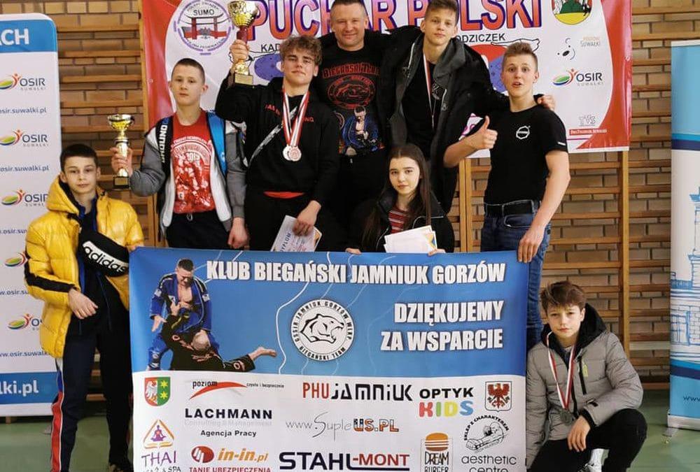 2 miejsce drużynowo i 9 medali Pucharu Polski w Sumo