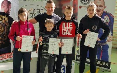 4 złote medale na Ogólnopolskim Turnieju w ju-jitsu w Krakowie