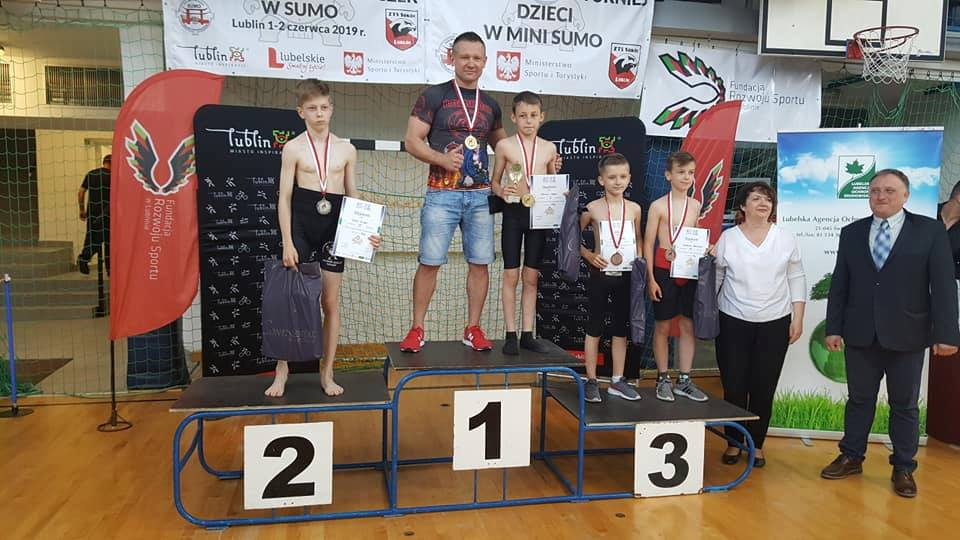 2 złota, brąz i 7 miejsce na Mistrzostwach Polski w SUMO